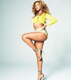 Beyoncé's April Cover Shoot for SHAPE Magazine featuring JETS White Label