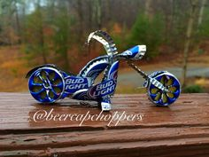 Bud Light Beer Cap Motorcycle / Chopper / by Craftcapcreations