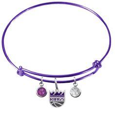 Sacramento Kings NBA Color Expandable Wire Bangle Charm Bracelet – SportsJewelryProShop