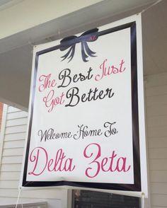 Banners / Posters | Delta Zeta | Bid Day Banner.. the best just got better #greek #sorority #recruitment