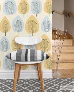 SCANDINAWIAN: Tree pattern wallpaper by Big-trix.pl | #scandinavian #wallpaper