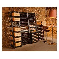 Modulosteel - Rangement contemporain modulable en acier pour le vin - EuroCave
