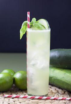 Cucumber Basil Mojito