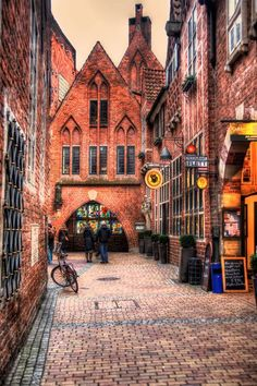 A snapshot of Bremen, Germany.