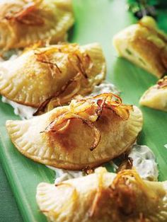 Nadia G's Pierogies with Fixin's might be hard to spell but are fun to eat!