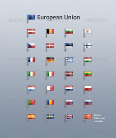 european union countries flags