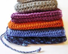 Crochet Scarf / Infinity Scarf / Loop Scarf / Cowl / Snood Scarf / Blue Snood / Orange Snood / Purple Snood / Blue Scarf / Orange Scarf