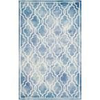 Dip Dye Blue/Ivory 6 ft. x 9 ft. Area Rug