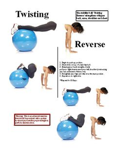 Ab Workouts For Women: Stability Ball Twist Reverse Exercise | Ab Workouts For Women