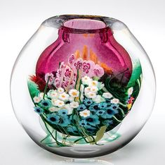 Landscape+Series+Vase+Ruby by Shawn+Messenger: Art+Glass+Vase available at www.artfulhome.com