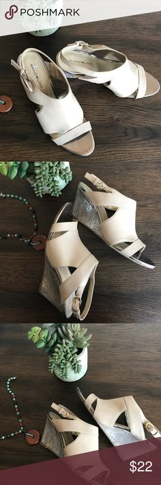 Bandolino shoes In very good condition cute wedge shoes, worn just a couple times,  very comfortable, don't be afraid to make an offer!😀 Bandolino Shoes