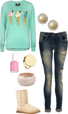 """Ice Cream"" by kaceytayler ❤ liked on Polyvore"
