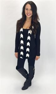 Junky Trunk Boutique. Big Easy Sequin Cardi. open cardi with a cute chevron sequins trim.