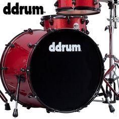 ddrum Journeyman Rambler Red Sparkle  5-Piece Drum Kit with Sabian B8 2-Piece Cymbal Pack - Includes ddrum 200 Series Hardware, Gibraltar Bass Drum Pedal, Evans Drum Set Survival Guide & GoDpsMusic Drumsticks