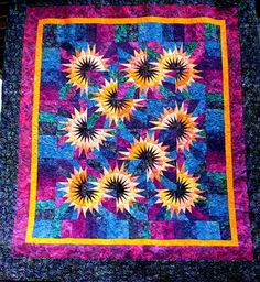 Sunflower Illusions Quiltworx Com Made By Judy Niemeyer