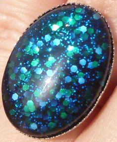 Nail Polish Ring  Across the Universe by BeadsInk on Etsy, $11.00