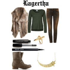 Lagertha by fashionably-geeky on Polyvore featuring Vero Moda, Calypso St. Barth, Rich & Royal, Madden Girl, Eina Ahluwalia, LeiVanKash, Love 21 and Bobbi Brown Cosmetics