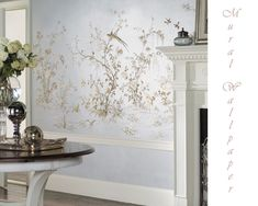 Image result for contemporary chinoiserie wallpaper style