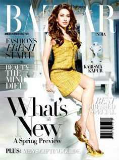 Karisma Kapur on Harpers Bazaar India (Jan V Magazine, Glamour Magazine, Magazine Covers, Marie Claire, Cosmopolitan, Vanity Fair, Karisma Kapoor, Vogue, Fashion Mag