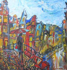 Amsterdam - acrylique sur toile - Elena Polyakova (1970-)