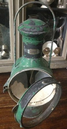 Cool French Maritime Lantern from 1900 Old Lanterns, Nautical Lanterns, Kerosene Lamp, I Saw The Light, Nautical Design, Rustic Art, French Beauty, Architectural Salvage, Vintage Shabby Chic