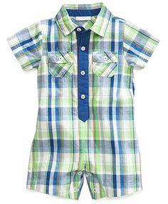 First Impressions Baby Boys' Plaid Romper