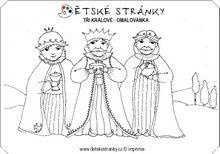 Tři králové - omalovánka