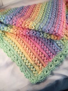 Crochet baby blanket Made to order hairpin lace by AlwaysStitches