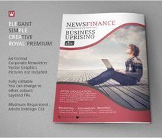 Newsletter Template Market Strategies on Behance