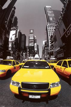 Yellow Cabs NYC Poster