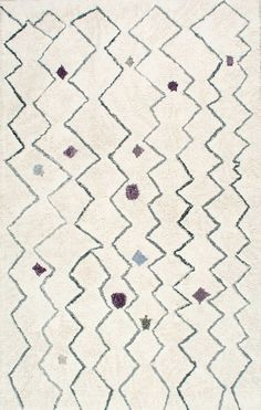 MarrakechKL07 Hand Tufted Spotted Moroccan Zigzag Shag Rug