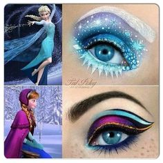 Disney Frozen inspired make-up: Anna and Elsa