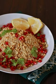 COUS COUS, POMEGRANATE AND PINE NUT SALAD