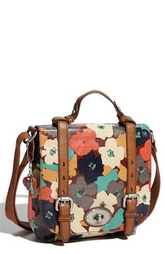 Fossil 'Key-Per' Coated Canvas Shoulder Bag