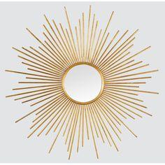 Miroir soleil or 80 cm (GR138C80-0) : achat / vente Miroir sur maginea.com