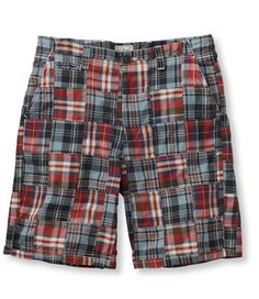 L.L. Bean   Summer Weekend Shorts, Madras Patchwork