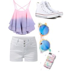 Summer day by alannaxjonnesx on Polyvore featuring polyvore, fashion, style, Converse and Zara