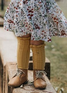 This year may be a little chilly - knee high socks are always cute and classic. Handmade Twirl Skirt by MiyaAndMa on Etsy