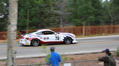 Take a Rowdy Ride up Pikes Peak on Front Splitter of Turbocharged Mustang