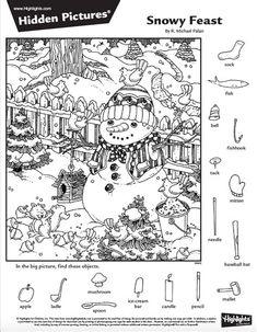 Hidden Object Puzzles, Hidden Picture Puzzles, Hidden Objects, Christmas Activities, Preschool Activities, Christmas Fun, Hidden Pictures Printables, Highlights Hidden Pictures, Activity Sheets