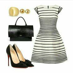 christian louboutin with red sole Fashion Moda, Work Fashion, Runway Fashion, Fashion Outfits, Womens Fashion, Fashion Trends, Fashion Fashion, Jw Moda, Classy Outfits