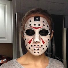 Another throwback before we start posting new looks for October Friday the 13th Jason Vorhees Makeup used: @mehronmakeup paradise paints #Halloween #JasonVorhees #fridaythe13th #makeup #facepaint #mehronparadisepaint #mehron #skullandglossbones
