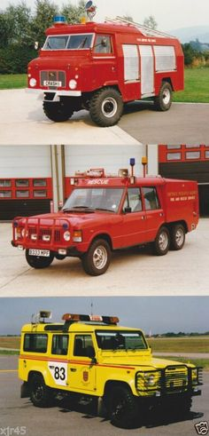 Classic Land Rover UK Airport Fire Vehicles