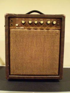 antique looking guitar amp