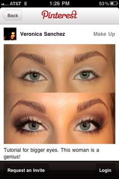 Make up tricks to make your eyes look bigger