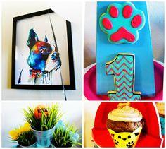 Pupstachio Mustache Doggie Party Ideas- B. Lovely Events