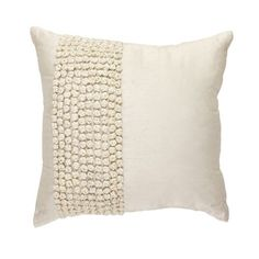 Knots Cream Band Pillow by Bandhini Homewear Design - Seven Colonial