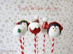 Weihnachts Cake Pops: Pinguine, Schneemänner, Santa Hütchen, Weihnachtsbäume und viele mehr! | niner bakes