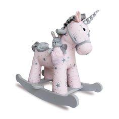 A Little Bird Told Me - Rocking Horse - Celeste & Fae Unicorn Little Birds, Little Ones, Unicorn Rocking Horse, Rocking Horses, Unicorn Bedroom, Cute Fairy, Beautiful Fairies, Beautiful Places, Rabbit Toys
