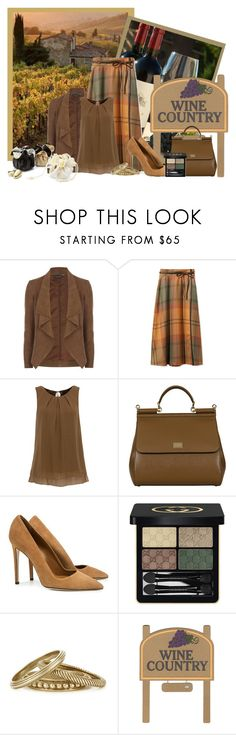 """Wine Country"" by oliverose-247 ❤ liked on Polyvore featuring National Geographic Home, Dorothy Perkins, Hallhuber, Carven, SUNO New York, Gucci, Tory Burch and country"